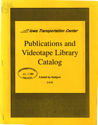Publications and Videotape Library Catalog PDF