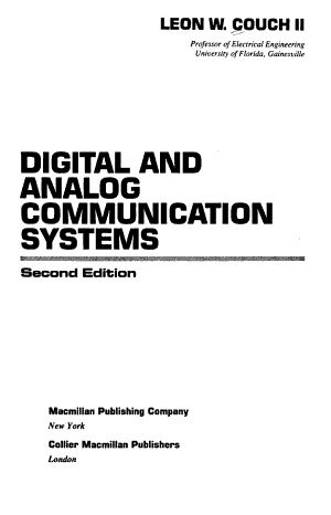 Digital and Analog Communication Systems PDF