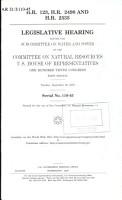 H R  123  H R  2498 and H R  2535 PDF
