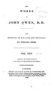 The Works of John Owen: Volume 25