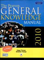 The Pearson General Knowledge Manual 2010  New Edition  PDF