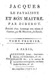 Jacques le fataliste et son maître: Volume1