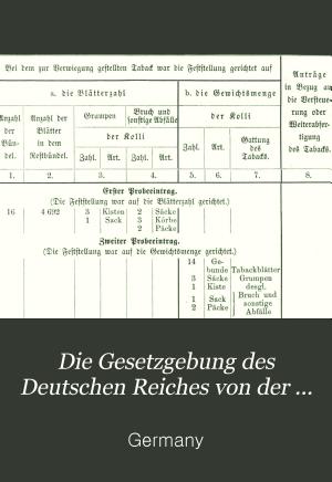 Die gesetzgebung des Deutschen Reichs PDF