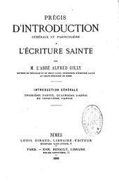 Précis d'introduction générale et particulière à l'écriture sainte