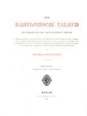 Der babylonische Talmud: mit einschluss der vollstaendigen Mišnah, Band 1
