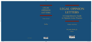 Legal Opinion Letters PDF