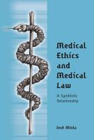 Medical Ethics and Medical Law PDF