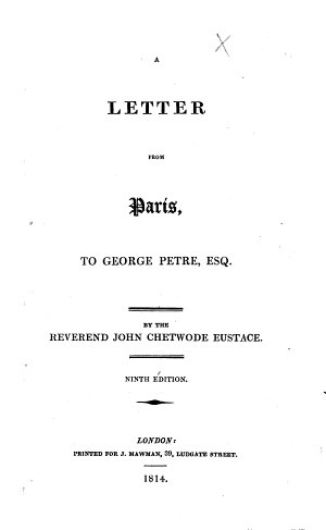A letter from Paris  to George Petre     Ninth edition