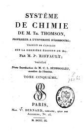 Système de chimie: Volume5
