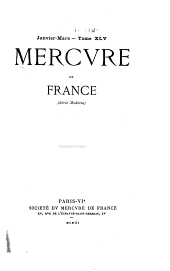 Mercure de France: Volume 45
