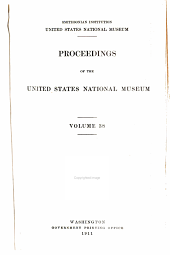Proceedings of the United States National Museum: Volume 38