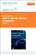 Motor Speech Disorders Passcode