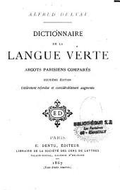 Dictionnaire de la langue verte: argots parisiens comparés