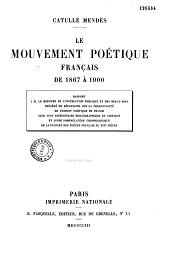 Le mouvement poétique français de 1867 à 1900: l'esprit poétique de France