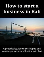 How to Start a Business in Bali PDF
