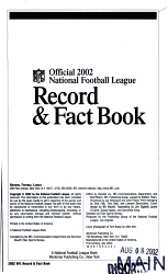 The Official NFL 2002 Record and Fact Book PDF