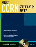 Adult CCRN Certification Review with CD ROM PDF