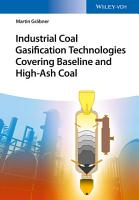 Industrial Coal Gasification Technologies Covering Baseline and High Ash Coal PDF