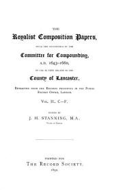 The Royalist Composition Papers: C-F