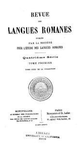 Revue des langues romanes: Volume31