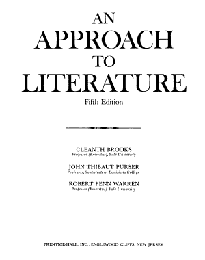 An Approach to Literature PDF