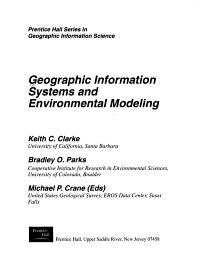 Geographic Information Systems and Environmental Modeling PDF