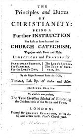The principles and duties of Christianity, 1707