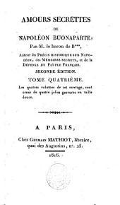 Amours secrettes [sic] de Napoléon Buonaparte: Volume4