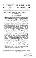 A Bibliography of the University of Michigan PDF