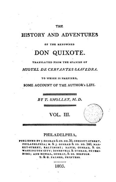 Download The History and Adventures of the Renowned Don Quixote 3 Book