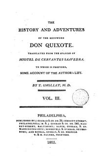 The History and Adventures of the Renowned Don Quixote 3 Book