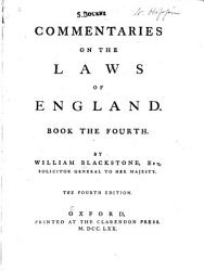 Commentaries on the Laws of England PDF