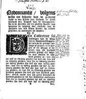 Waage: Ordonnantie, volgens welke ten behoeve van de gemeene saake in [...] Holland en Westvrisland den impost van de waaggelden [...] ontfangen sal worden