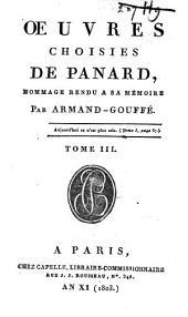 Oeuvres choisies de Panard: Volume3