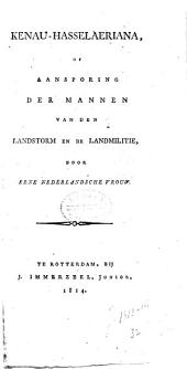 Kenau-Hasselaeriana, of Aansporing der mannen van den landstorm en de landmilitie