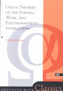 Gauge Theories Of Strong  Weak  And Electromagnetic Interactions PDF