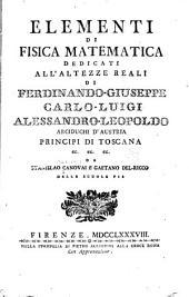Elementi di fisica matematica ...