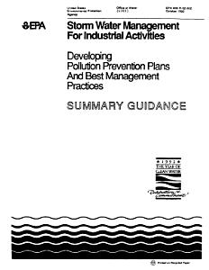 Storm Water Management for Industrial Activities