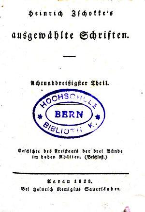 Heinrich Zschokke s ausgew  hlte Schriften PDF