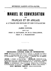 Conversation-book in French and Engish for the Use of Schools and Travellers