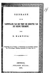 Bijdrage tot de vaststelling van den tekst der schriften van het Nieuwe Testament