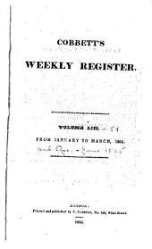 Cobbett's Political Register: Volumes 53-54