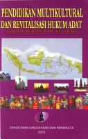 Pendidikan Multikultural dan Revitalisasi Hukum Adat Dalam Perspektif Sejarah PDF