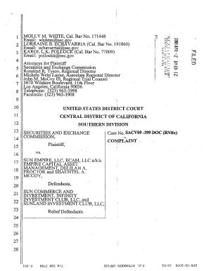 Sun Empire LLC  et al   Securities and Exchange Commission Litigation Complaint PDF