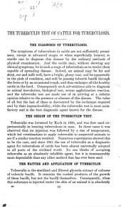 The tuberculin test of cattle for tuberculosis
