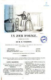 Un jour d'orage comedie en un acte de M. N. Fournier
