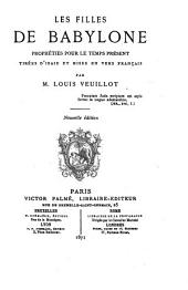 Les filles de Babylone: prophéties pour le temps présent tirées d'Isaïe et mises en vers français