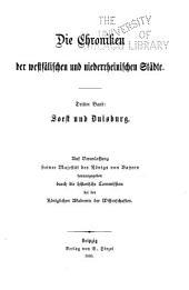 Die Chroniken der westfälischen und niederrheinischen Städte: Band 3