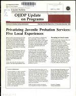 Privatizing Juvenile Probation Services