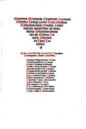 Scriptum super Sententiae Pristine Integritati restitutum: Cui Tabula Generalis miro Artificio elaborata supaddit Uniuersam Doctoris Subtilis Peritia[m] ocot Sectionibus co[m]praehe[n]de[n]s ab Excelle[n]tissimo Doctore Antonio de Fantis Taruisino Primario eius Inuentore ac Scotice discipline Illustratore, Volume 4